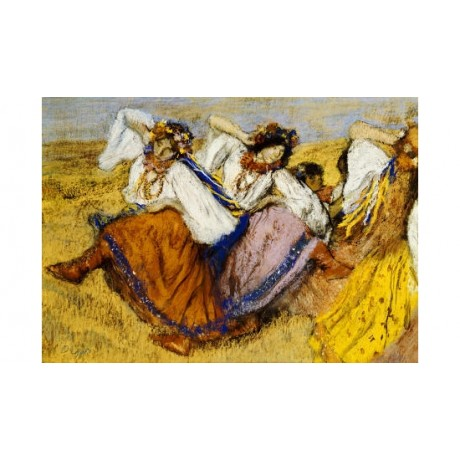 "EDGAR DEGAS ""Russian Danccers"" print ON CANVAS choose SIZE, from 55cm up, NEW"