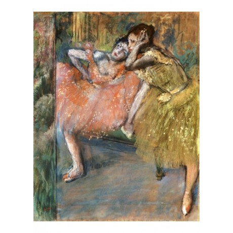 "EDGAR DEGAS ""Two Dancers By A Heh"" ON CANVAS choose SIZE, from 55cm upwards, NEW"