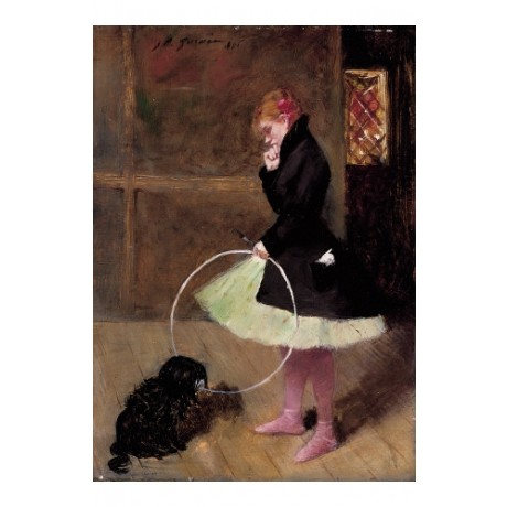 "JEAN-LOUIS FORAIN ""La Danseuse Au Cerceau"" ON CANVAS various SIZES available"