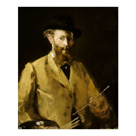 "EDOUARD MANET ""Self Portrait With Palette"" ON CANVAS various SIZES available"