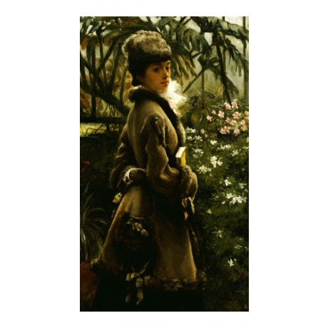 "JAMES JACQUES JOSEPH TISSOT ""In Greenhouse"" ON CANVAS various SIZES, BRAND NEW"