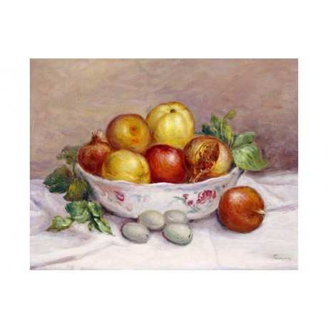 PIERRE-AUGUSTE RENOIR Pomegranate Still print ON CANVAS various SIZES, BRAND NEW