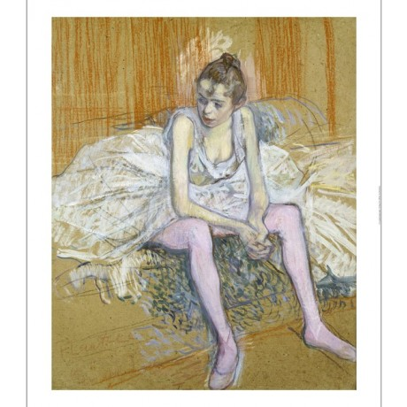HENRI DE TOULOUSE-LAUTREC Dancer Pink Stockings PRINT various SIZES, BRAND NEW