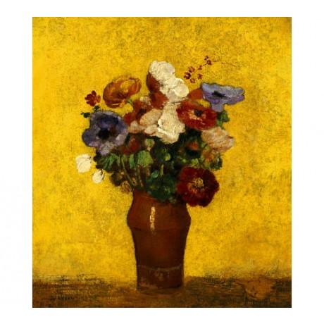 "ODILON REDON ""Fleurs"" still life print ON CANVAS new! various SIZES, BRAND NEW"