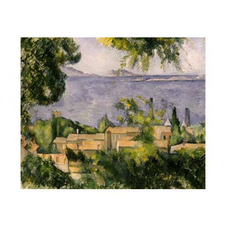 "PAUL CEZANNE ""Rooftops Of L'Estaque"" print ON CANVAS various SIZES available"