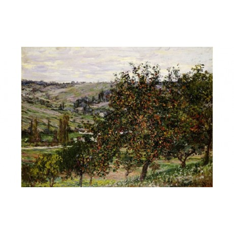"CLAUDE MONET ""Apple Trees Near Vetheuil"" CANVAS EDITION various SIZES, BRAND NEW"