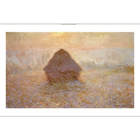 "CLAUDE MONET ""Haystacks, Sun On Mist"" CANVAS EDITION various SIZES available"
