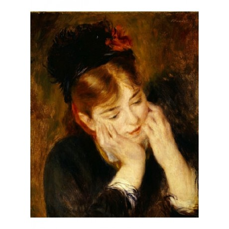 "PIERRE AUGUSTE RENOIR ""Contemplation"" CANVAS EDITION various SIZES available"