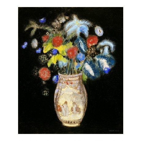 "ODILON REDON ""Large Bouquet "" Still CANVAS EDITION choose SIZE, from 55cm up"