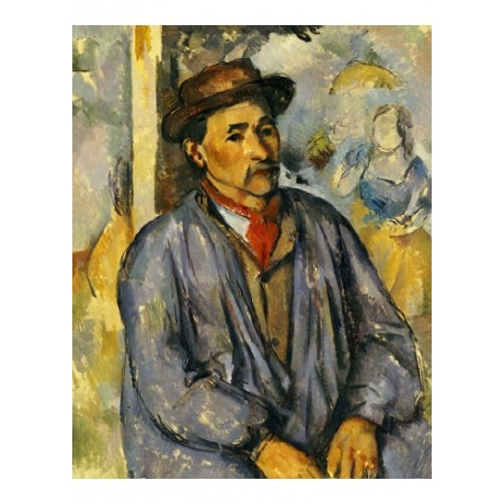 "PAUL CEZANNE ""Peasant In Blue Shirt"" print ON CANVAS various SIZES available"