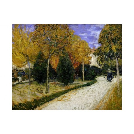 "VINCENT VAN GOGH ""Public Garden"" print ON CANVAS NEW various SIZES available"