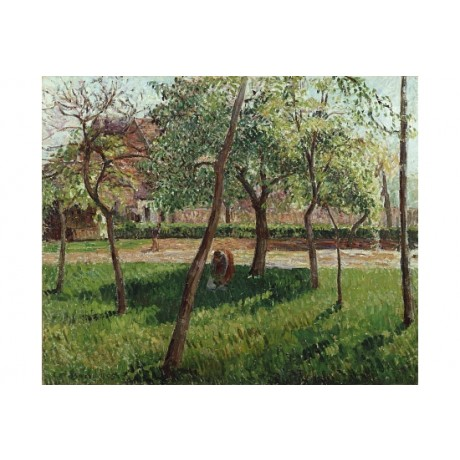 "CAMILLE PISSARRO ""The Enclosure At Eragny"" CANVAS print various SIZES, BRAND NEW"