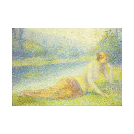 "HIPPOLYTE PETITJEAN ""Reclining Nude"" woman PRINT choose SIZE, from 55cm up, NEW"
