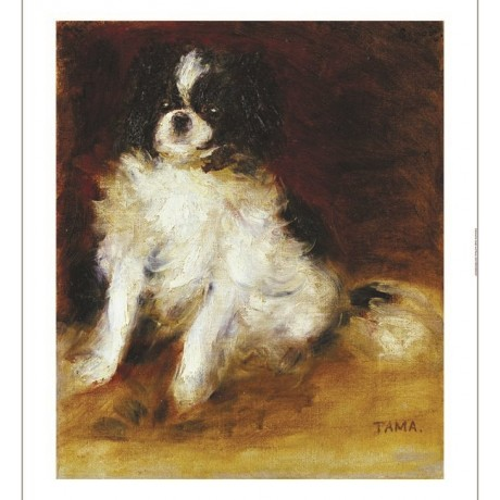 "PIERRE-AUGUSTE RENOIR ""Tama"" dog print ON CANVAS choose SIZE, from 55cm up, NEW"