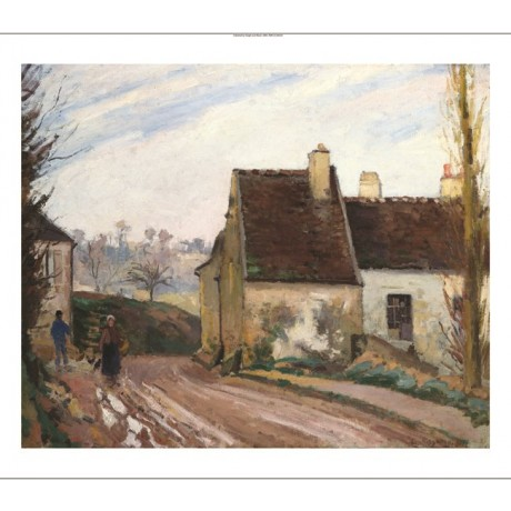 "CAMILLE PISSARRO ""The Cottages Near D'Osny"" choose SIZE, from 55cm upwards, NEW"