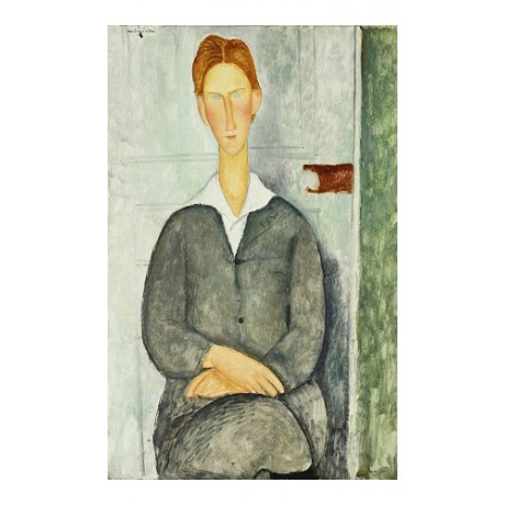 "AMEDEO MODIGLIANI ""Young Man With Red Hair"" ON CANVAS! various SIZES, BRAND NEW"