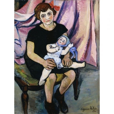 "Suzanne Valadon ""Girl with a Doll"" toy impressionist STUNNING NEW CANVAS PRINT"