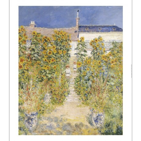 "CLAUDE MONET ""ist's Garden At Vetheuil"" print ON CANVAS various SIZES, BRAND NEW"