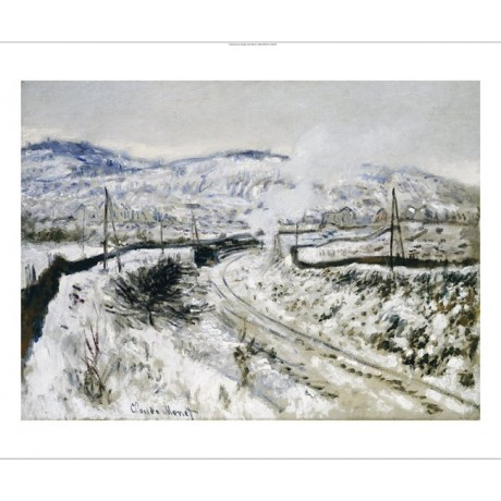 "CLAUDE MONET ""Train In Snow At Argenteuil"" Art CANVAS various SIZES, BRAND NEW"