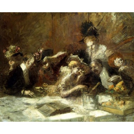 JEAN LOUIS FORAIN Cafe Maxim, Paris society WOMEN drinking champagne men NEW!!