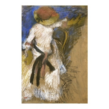 "EDGAR DEGAS ""Seated Woman In A White Dress"" ON CANVAS! various SIZES, BRAND NEW"
