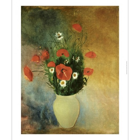 "ODILON REDON ""Poppies And Daisies"" Art CANVAS EDITION various SIZES, BRAND NEW"