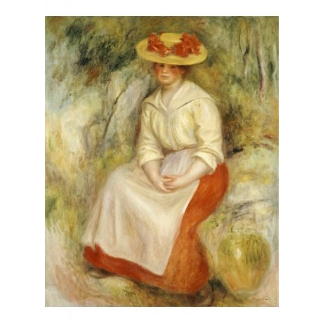 "PIERRE-AUGUSTE RENOIR ""Gabrielle In A Straw Hat"" print various SIZES, BRAND NEW"