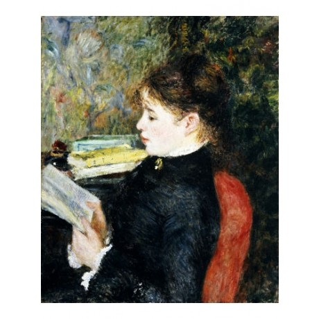 "PIERRE-AUGUSTE RENOIR ""The Reader"" CANVAS EDITION choose SIZE, from 55cm up, NEW"