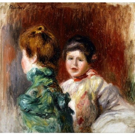 PIERRE AUGUSTE RENOIR A Sketch of the Heads of Two Women friends SEE our SHOP!