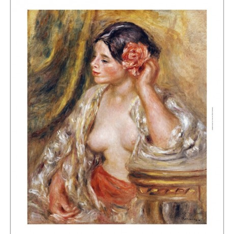 PIERRE-AUGUSTE RENOI Gabrielle A Sa Coiffure Nude PRINT various SIZES, BRAND NEW