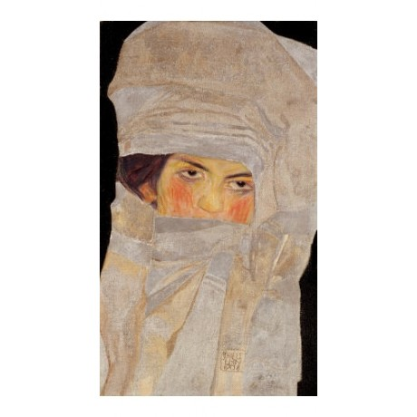 "EGON SCHIELE ""Artists' Sister, Melanie"" CANVAS ART ! various SIZES available"