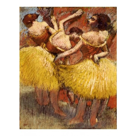 "EDGAR DEGAS ""Three Dancers"" Art stunning canvas, from 55cm up, NEW"