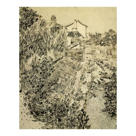 "VINCENT VAN GOGH ""Flower Garden"" print ON CANVAS NEW various SIZES available"