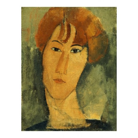 AMEDEO MODIGLIANI Woman Brown Collar Print CANVAS choose SIZE, from 55cm up, NEW
