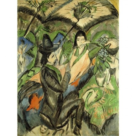 Ernst-Ludwig Kirchner Couple under Japanese Parasols abstract NEW CANVAS PRINT