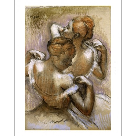 "EDGAR DEGAS ""Two Dancer Adjusting Shouder Straps"" PRINT various SIZES, BRAND NEW"