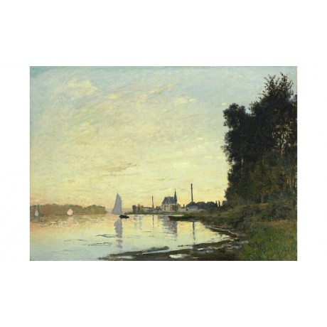 "CLAUDE MONET ""Argenteuil, Late Afternoon"" CANVAS print! various SIZES, BRAND NEW"