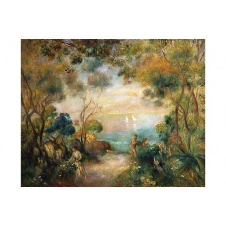 "PIERRE AUGUSTE RENOIR ""A Garden In Sorrento"" ON CANVAS! various SIZES, BRAND NEW"