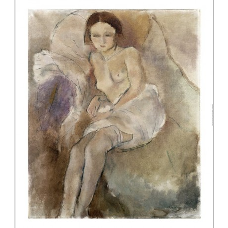 "JULES PASCIN ""Seated Woman"" 5000+ PRINTS in our shop! various SIZES, BRAND NEW"