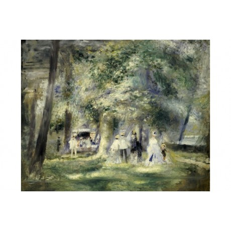 "PIERRE AUGUSTE RENOIR ""In Park At Saint-Cloud"" Print various SIZES available"