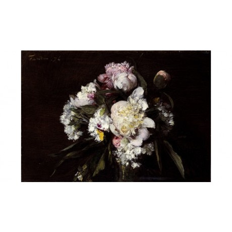 HENRI FANTIN-LATOUR Peonies Art CANVAS EDITION choose SIZE, from 55cm up, NEW