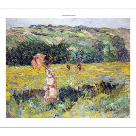 "CLAUDE MONET ""Limetz Meadow"" print ON CANVAS choose SIZE, from 55cm upwards, NEW"