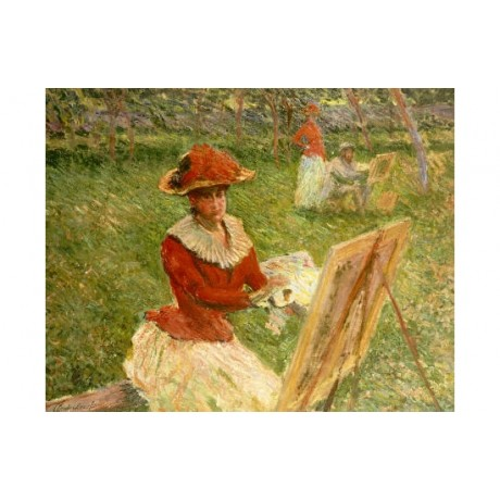 "CLAUDE MONET ""Blanche Hoschede Peignant"" print NEW choose SIZE, from 55cm up"
