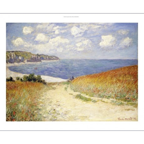 "CLAUDE MONET ""Path In Wheat At Pourville"" PRINT new various SIZES available, NEW"