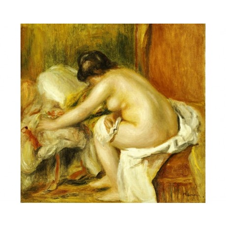 "PIERRE-AUGUSTE RENOIR ""Seated Bather"" Nude ON CANVAS various SIZES available"