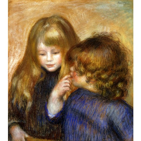 PIERRE AUGUSTE RENOIR Jean and Coco CHILDREN cute curly sibling boy girl NEW!!