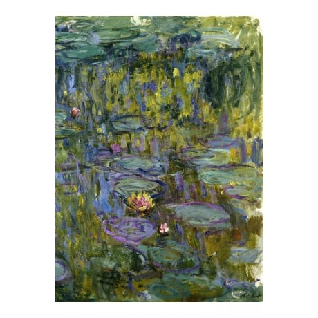 "CLAUDE MONET ""Water Lilies"" print NEW ON CANVAS choose SIZE, from 55cm up, NEW"