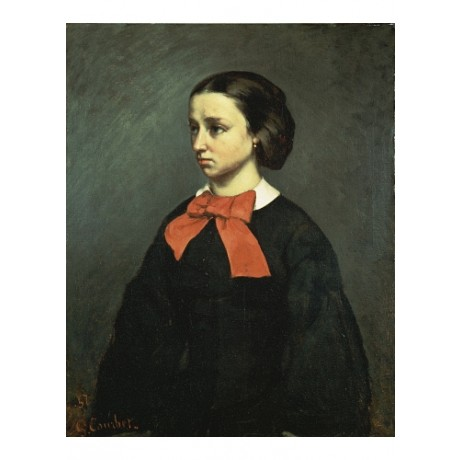 "GUSTAVE COURBET ""Portrait De Mlle Jacquet"" CANVAS print various SIZES, BRAND NEW"