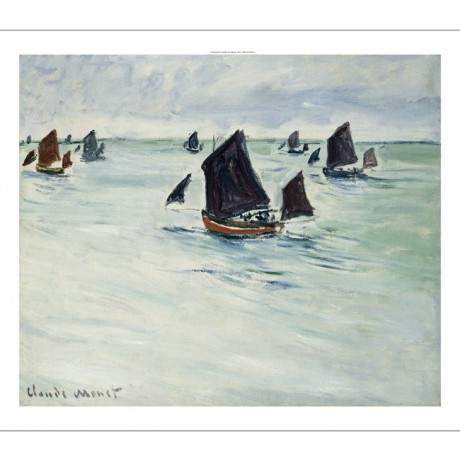 CLAUDE MONET Fishing Boats on Large De Pourville PRINT various SIZES, BRAND NEW