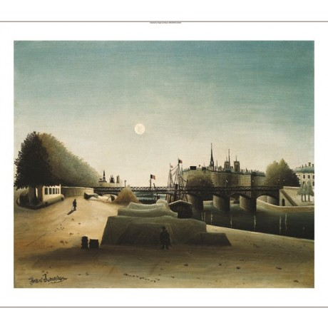 "HENRI ROUSSEAU ""A View Of The Isle St Louis"" ON CANVAS! various SIZES, BRAND NEW"